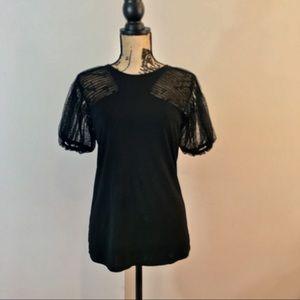 BCBGMaxAzaria like new, never worn, black lace
